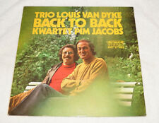 LP : Trio Louis Van Dyke - Kwartet Pim Jacobs - Back to Back - Made in Holland