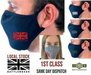 Face Mask Washable Cover Breathable Reusable Double Layer Protection UK Flag Eco