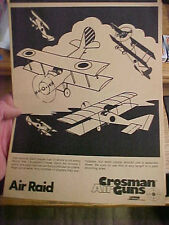 "FT4 Vintage RARE Crosman Air guns target Coleman co. BB air raid 8.5"" x 11"""