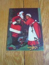 K. Lawrence Vtg Christmas Santa Mrs. Claus Elves Card Unused American Greetings