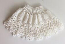 Hand Made Knit Crochet Baby Poncho Sweater Baby Girl 6 Months White Beautiful