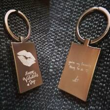 PERSONALISED Valentine's Day Keyring -   Kiss Engraved Or Photo engraved