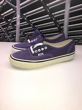 Vans Authentic STYLE 44 DX PURPLESUEDE WHITE SZ 9 Left Sole Yellowing