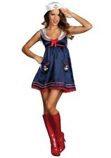 USED WOMEN'S SEXY BLUE SAILOR GIRL COSTUME SIZE SMALL (with defect)