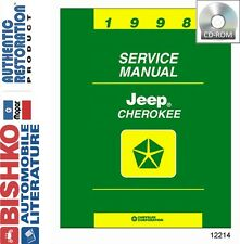 1998 Jeep Cherokee Shop Service Repair Manual CD Engine Drivetrain Electrical