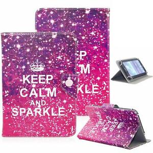 """Keep Calm And Sparkle 8"""" Universal Leather Box Case For Acre/Alcatel/ASUS/Amazon"""