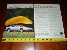 1988 LOTUS ESPRIT TURBO - ORIGINAL 2 PAGE AD