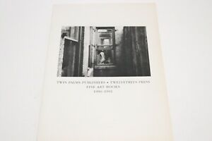 Twelvetrees Press Twin Palms Publishers 1990-1991 Catalog Fine Art Books Vintage