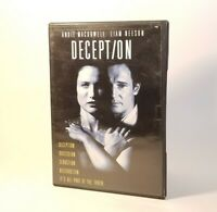 Deception -1993 (DVD 2004) VGC Tested! Andie Macdowell, Liam Neeson