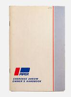 VTG 1969 Piper Cherokee Arrow Plane Owners pilots manual handbook
