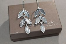 Silpada Sterling Silver Israel Dangling Leaf Earrings W2175 SOLID Vintage WOW!!