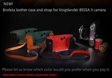 Brofeta Voigtlander Bessa II 2 camera leathar case and neck strap Handmade NEW!