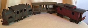 Early Lionel Corp Standard Gauge Toy Train Set 38,113,117, mfd 1913-1924