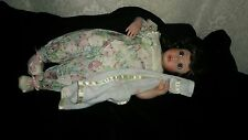 """Porcelain doll Me and My Blankie 14.5"""" little Stephie pajamas Blue eyes"""