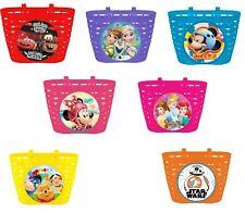 Genuine Disney Frozen Cars Bicycle Front Basket Kids Bike Cycle Shopping Childs