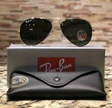 Ray-Ban Aviator Polarized Sunglasses RB3025 001/58 58mm Gold Frame/Green Lens!!
