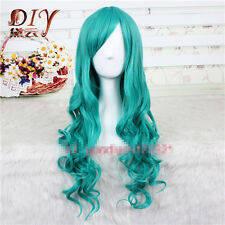 65cm long Girl's Cosplay Party Dark Turquoise Bleach Neliel Wavy Fashion Wig New