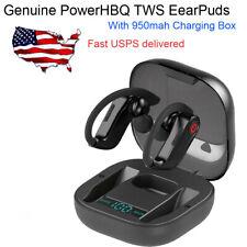 Genuine PowerHBQ PRO Sport Earbuds Bluetooth 5.0 TWS Earphone w/ Charging BOX