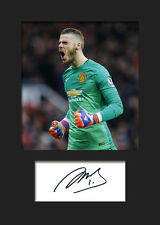 DAVID DE GEA -  Manchester United Signed Photo A5 Mounted Print - FREE DELIVERY