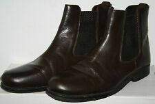 Clifford James Men's Brown Leather Sole Slip On Chelsea Ankle Boots Shoes Size 9