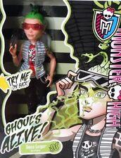 Monster High GHOULS ALIVE DEUCE GORDON Boy My Eyes Light Up & I Make Erie Sounds