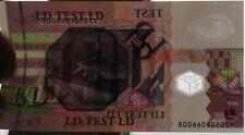 TESTNOTE EURO essai billet polymère, vignette traversante, ALLEMAGNE P, lettre Q
