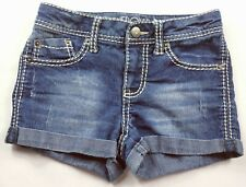 Cherokee Women's Juniors Booty Jean Shorts Size Medium Embroidered Stretch