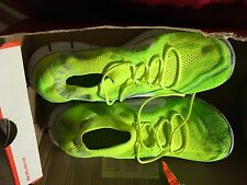 Nike Free Flyknit Neon Green Running Workout Shoes Size 11.5
