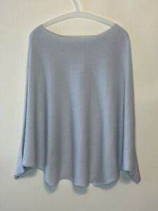By Anthropologie Pullover Blue Sweater Ribbed Dolman Sleeves Boatneck NWT $98