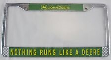 John Deere Metal License Plate Frame Nothing Runs Like  Deere Green Tractor L984