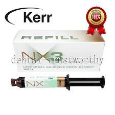 Kerr Nx3 Dual Cure Dental Adhesive Resin Cement White 1 X 5g Syringe