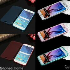 Samsung Galaxy S6 Transparent Soft Jelly Bookcase with Flip Cover FREE Shipping