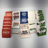 Vintage Lot 28 Packs Golf Tees (112 Tees) Coca Cola Budweiser Coors Light Novus