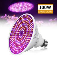 100W E27 290LED Plant Grow Light Lamp Full Spectrum Flower Seeds Grow Light Bulb