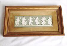 Framed Wedgwood Dancing Hours Plaque 1974 - Green Jasperware Plaque