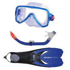 Beuchat Jetta Explorer Mask, Snorkel & Fins Set Junior Blue UK 2.5 - 5