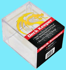 BCW GAMING DECK KEEPER BOX Clear Gold Dragon Two Piece Card Storage MTG Pokemon