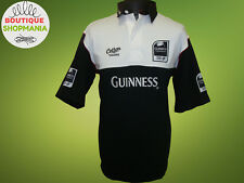 NWOT GUINNESS PREMIERSHIP Cotton Traders (L) Black White Polo Rugby Shirt