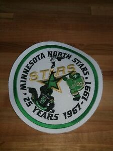 Authentic Original 1991 Minnesota North Stars game worn used jersey patch 25th