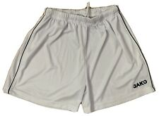 Jako Soccer Shorts Mens Medium Solid White With Black Stripe On Sides Preowned