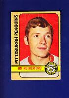 Jim Rutherford RC 1972-73 O-PEE-CHEE OPC Hockey (VG+) #15 Pittsburgh Penguins