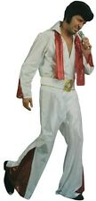 Adult Mens Rock Star Elvis Costume Set One Size Vegas White Suit Music King New