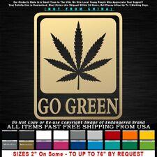Marijuana Go Green Shield Poster Weed Pot Leaf Sticker Decal
