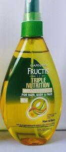 Garnier Triple Nutrit Miracle Dry Oil Hair Body Face, Olive Avocado & Shea