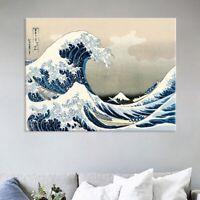 The Great Wave off Kanagawa Japanese Ukiyo-e Fabric Poster Home Wall Art Great