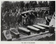 WW1 photo view: Funerals of Cuffley Zeppelin German crew 1916, ready to frame