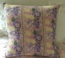 """April Cornell Accent Pillow COVER Lavender, Yellows,Pinks & Green Floral 15""""x15"""""""