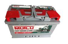 Mutlu AGM Batteria Solare 12v 120ah CAMPER CAMPEGGIO BARCA approvvigionamento riabilitazione