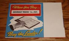 1942 Chevrolet Truck Full Line Foldout Sales Brochure 42 Chevy Pickup Panel
