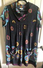 NEW ex Joe Browns BLUE Mix Sassy Ruffle Dress sizes 16 20 22 30